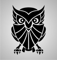 Owl Tribal vector