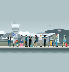 Passengers waiting for a taxi vector