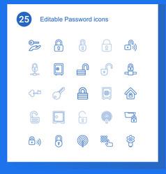 password icons vector image