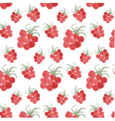 pattern with raspberry vector image vector image