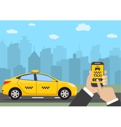 Phone with interface taxi vector