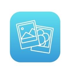 Photos line icon vector image