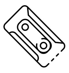 plastic cassette icon outline style vector image