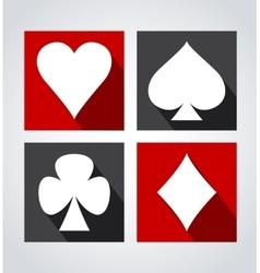 Playing card symbols vector