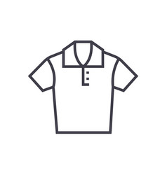 polo shirt line icon sign on vector image vector image