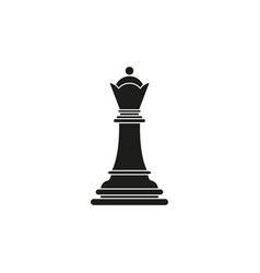 Queen of chess icon black toy success vector