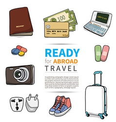 Ready for abroad travel vector