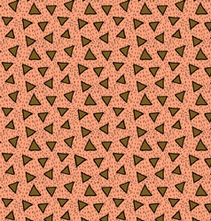 Rough triangles textured with hatches orange and vector
