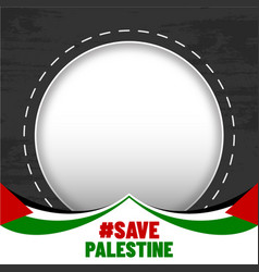 Save palestine photo frame vector