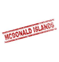Scratched textured mcdonald islands stamp seal vector