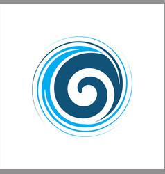 spiral abstract logo vector image