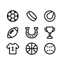 Sport collection icons isolated icons on vector