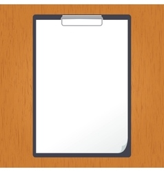 Tablet on the table vector image
