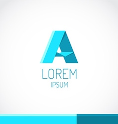 Trendy flat colors A letter logo template vector image