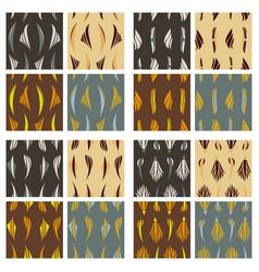 Tribal background ethnic pattern set boho texture vector