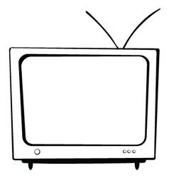 Tv BW vector
