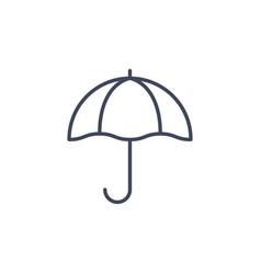 umbrella line parasol icon sun beach vector image