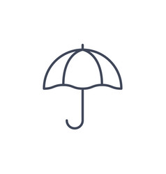 umbrella line parasol icon sun umbrella beach vector image