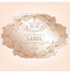 Vintage label with design elements vector