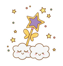 Wand with clouds vector