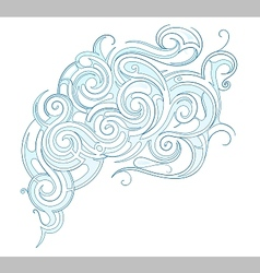 Water ornament vector image