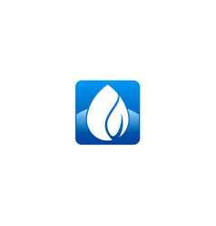 Waterdrop bio ecology logo vector