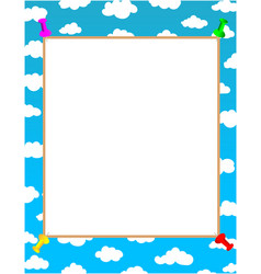 white sheet for text on blue sky background vector image