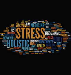 Your stress levels text background word cloud vector