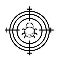 Line spider insect animal symbol and dangerous vector