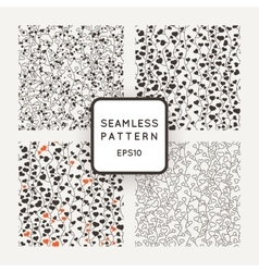 Set of seamless patterns of stylized vines vector image
