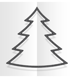 Silver Sequins Christmas Tree Winter New Year vector image vector image