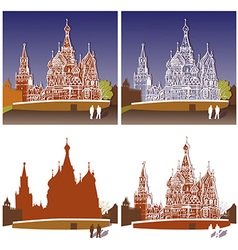 St basils cathedral moscow vector