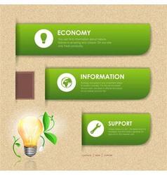 Website template design ecology background vector image