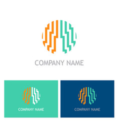 abstract line building logo vector image
