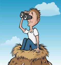 birdwatcher nest vector image