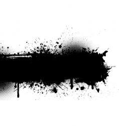 ink splat grunge vector image