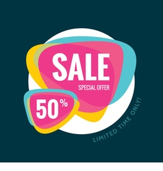 Sale banner template special offer 50 vector image