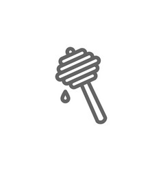 simple honey dipper line icon symbol and sign vector image vector image