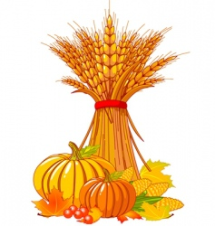 thanksgiving harvest background vector image vector image
