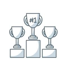 trophy winner flat line icon vector image