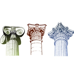 columns vector image vector image