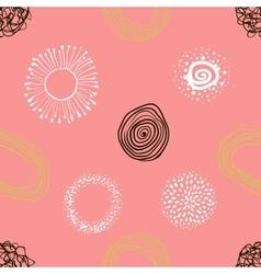 fabric circles abstract seamless pattern vector image vector image