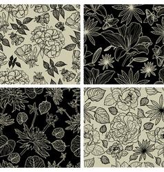 Flower Thai seamless vector image vector image