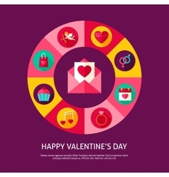 Happy Valentine Day Concept vector image vector image