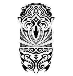 sleeve size tattoo ornament vector image vector image
