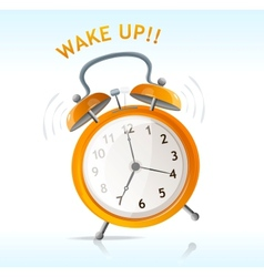 wake up message vector image