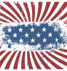 american flag background vintage abstract vector image vector image