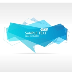 blue speech template vector image vector image