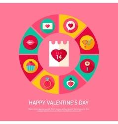 Happy Valentines Day Concept vector image vector image