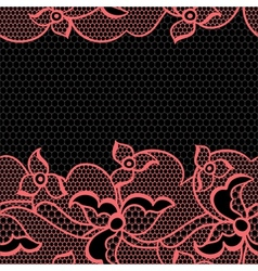 Lace fabric seamless border with abstract flowers vector image vector image